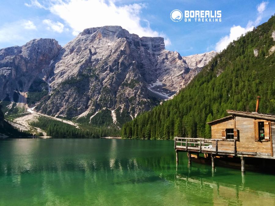 Lago di Braies dolomites borealis on trekking